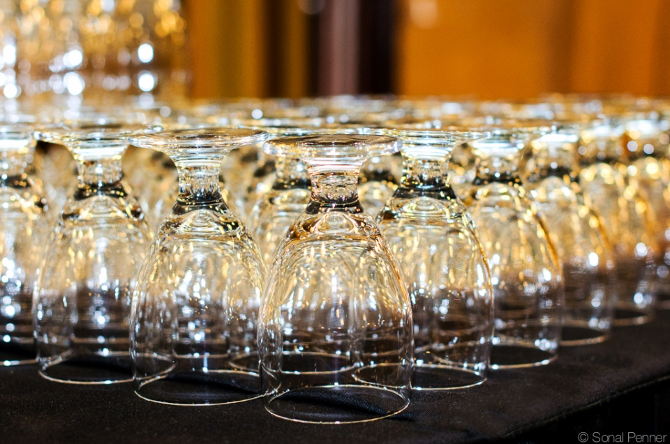 Glassware corporate event