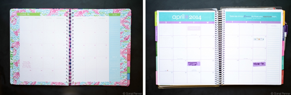 monthly layouts