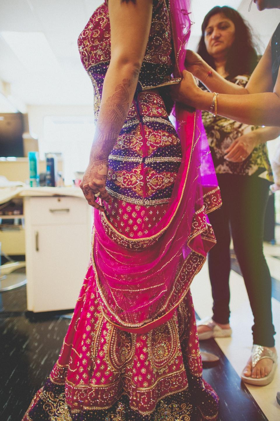 hindu bridal prep